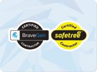 Safetree Certified Contractor Car Magnet